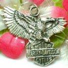 925 STERLING SILVER VINTAGE HARLEY DAVIDSON EAGLE WITH LOGO PENDANT
