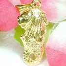 24K G.P. SINGAPORE MERLION CHARM / PENDANT WITH 18 INCH CHAIN BOX SET