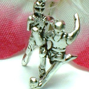 925 STERLING SILVER SOCCER PLAYER AFTER SOCCER BALL CHARM / PENDANT