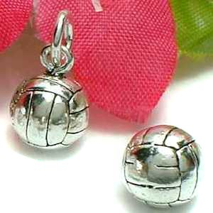 925 STERLING SILVER VOLLEYBALL CHARM / PENDANT