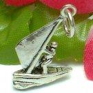 925 STERLING SILVER WIND SURFING MALE WIND SURFER CHARM / PENDANT