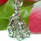925 STERLING SILVER MAN IN WHEELCHAIR CHARM / PENDANT