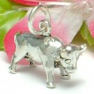 925 STERLING SILVER BULL CHARM / PENDANT
