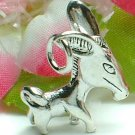 925 STERLING SILVER BIG EAR DONKEY CHARM / PENDANT