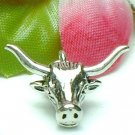 925 STERLING SILVER LONGHORN CHARM / PENDANT