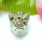 925 STERLING SILVER FOX HEAD CHARM / PENDANT