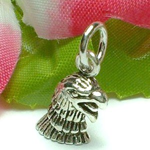 925 STERLING SILVER EAGLE HEAD CHARM / PENDANT