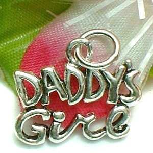 925 STERLING SILVER DADDY'S GIRL CHARM / PENDANT