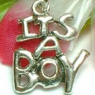 925 STERLING SILVER IT'S A BOY CHARM / PENDANT
