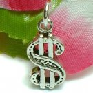925 STERLING SILVER DOLLAR $SIGN CHARM / PENDANT