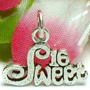 925 STERLING SILVER SWEET 16 CHARM / PENDANT