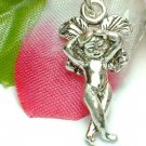 925 STERLING SILVER CUPID ANGEL RESTING CHARM / PENDANT