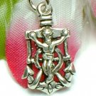 925 STERLING SILVER CAPTAIN'S WHEEL & ANCHOR CHARM PENDANT