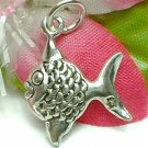 925 STERLING SILVER SUNFISH ANGELFISH CHARM / PENDANT