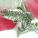 925 STERLING SILVER SALMON FISH CHARM / PENDANT