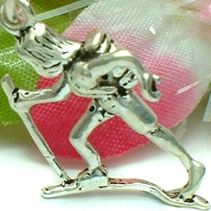 925 STERLING SILVER MOUNTAIN CLIMBER CHARM / PENDANT