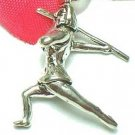 925 STERLING SILVER JAVELIN THROWER CHARM / PENDANT