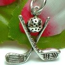 925 STERLING SILVER GOLF CLUBS & GOLF BALL CHARM PENDANT