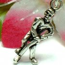 925 STERLING SILVER HOCKEY PLAYER CHARM / PENDANT