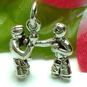 925 STERLING SILVER BOXING BOXERS CHARM / PENDANT