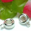925 STERLING SILVER PLAIN BAIL FIT PANDORA X 2 PIECES