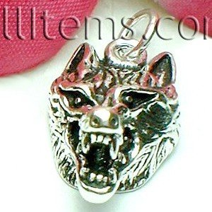 925 STERLING SILVER WOLF CHARM / PENDANT