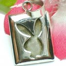 925 STERLING SILVER PLAYBOY BUNNY RABBIT CHARM / PENDANT