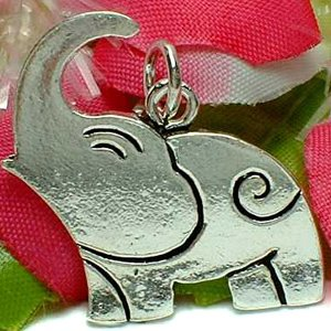 925 STERLING SILVER ELEPHANT CHARM / PENDANT