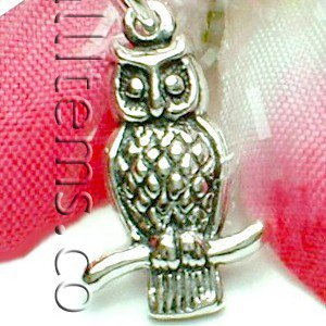 925 STERLING SILVER OWL BIRD CHARM / PENDANT