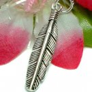 925 STERLING SILVER FEATHER CHARM / PENDANT