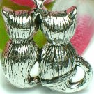 925 STERLING SILVER KITTY CAT'S BACK CHARM / PENDANT