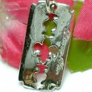 925 STERLING SILVER LOVING YOU RAZOR BLADE CHARM / PENDANT