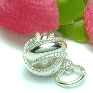 925 STERLING SILVER CLASSIC KNOTTED CHARM / PENDANT