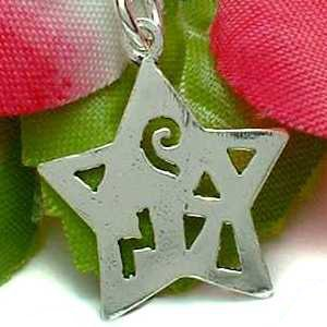 925 STERLING SILVER STAR WITH CUT-OUT CHARM / PENDANT