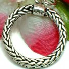 925 STERLING SILVER ROPE CIRCLE CHARM / PENDANT
