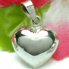925 STERLING SILVER PUFFED HEART CHARM / PENDANT