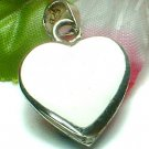 925 STERLING SILVER HEART TAG (FOR ENGRAVING) CHARM / PENDANT