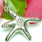 925 STERLING SILVER PUFFED STARFISH CHARM / PENDANT