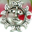 925 STERLING SILVER SUN FACE CHARM / PENDANT