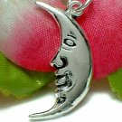925 STERLING SILVER MAN IN MOON CHARM / PENDANT