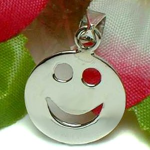 925 STERLING SILVER SMILEY FACE CHARM / PENDANT