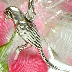 925 STERLING SILVER MACAW PARROT CHARM / PENDANT