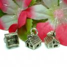 925 STERLING SILVER COTTAGE HOUSE CHARM / PENDANT #12
