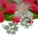 925 STERLING SILVER 3/4-INCH SUN FACE CHARM / PENDANT