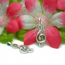 925 STERLING SILVER TREBLE CLEF NOTE CHARM / PENDANT #2