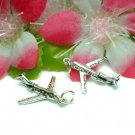 925 STERLING SILVER AIRPLANE CHARM / PENDANT #45