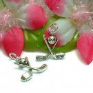 925 STERLING SILVER GOLF CLUBS & GOLF BALL CHARM PENDAN