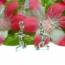 STERLING SILVER SOCCER PLAYER AFTER BALL CHARM PENDANT
