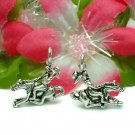925 STERLING SILVER COWBOY ON GALLOPING HORSE CHARM