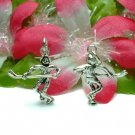 925 STERLING SILVER HOCKEY PLAYER CHARM / PENDANT #110